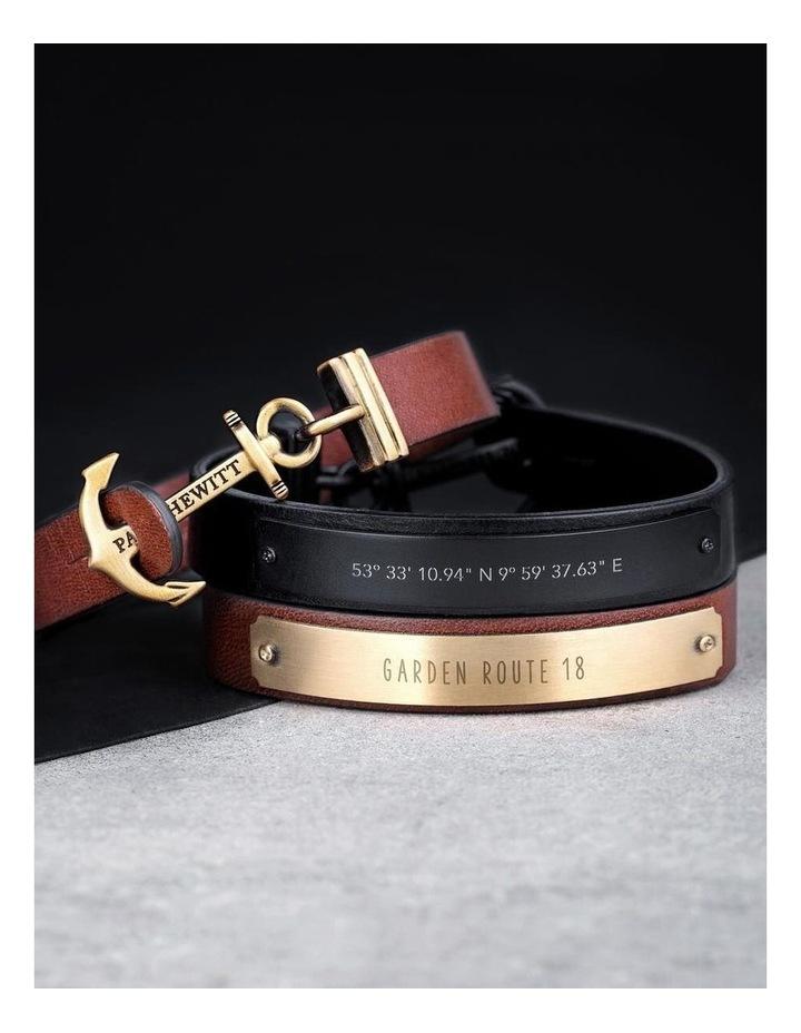 PH-MSC-B-B-L Signum Leather Bracelet Black / Black image 4