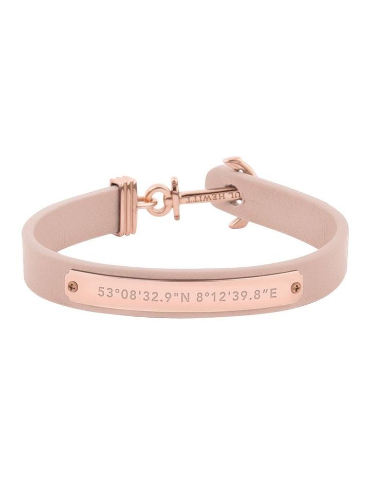 PH-FSC-R-N-M Signum Leather Bracelet Rose Gold / Nude image 1