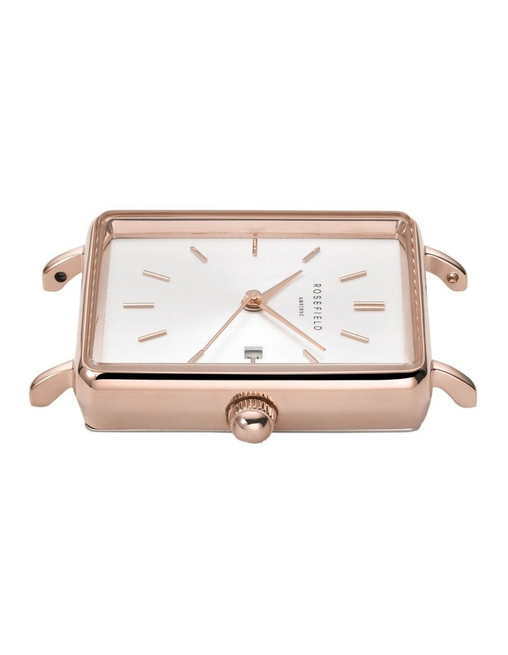 QOPRG-Q026 The Boxy White Dial Light Pink Sued Watch image 2