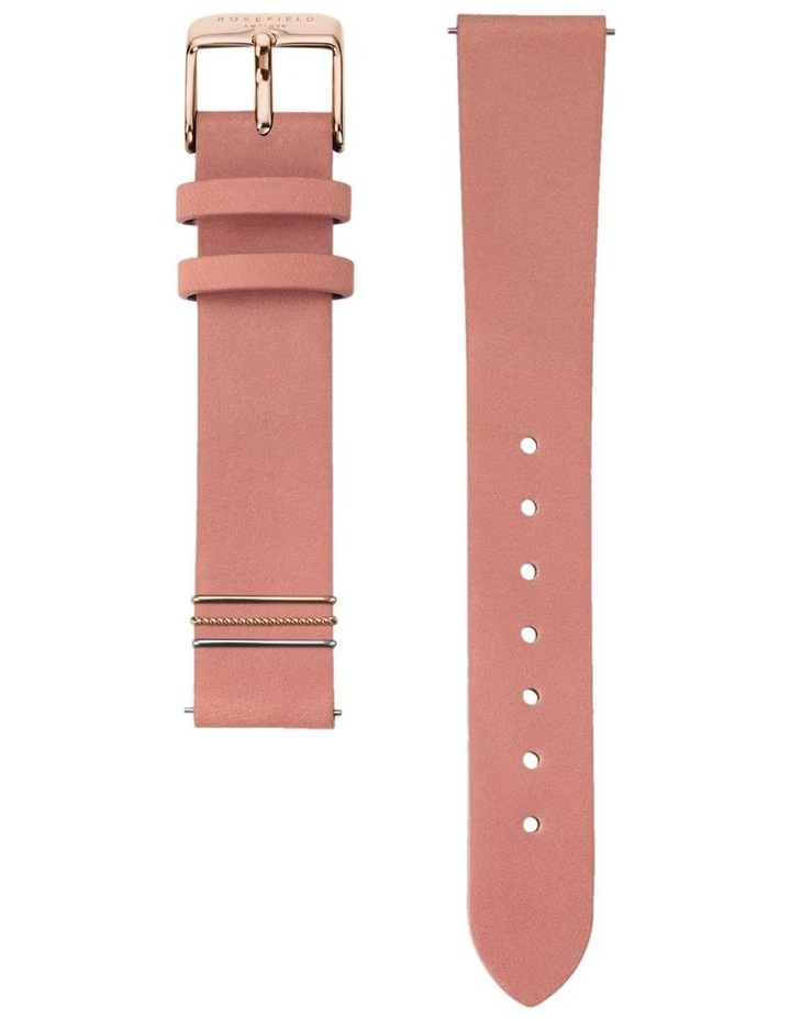 QOPRG-Q026 The Boxy White Dial Light Pink Sued Watch image 3