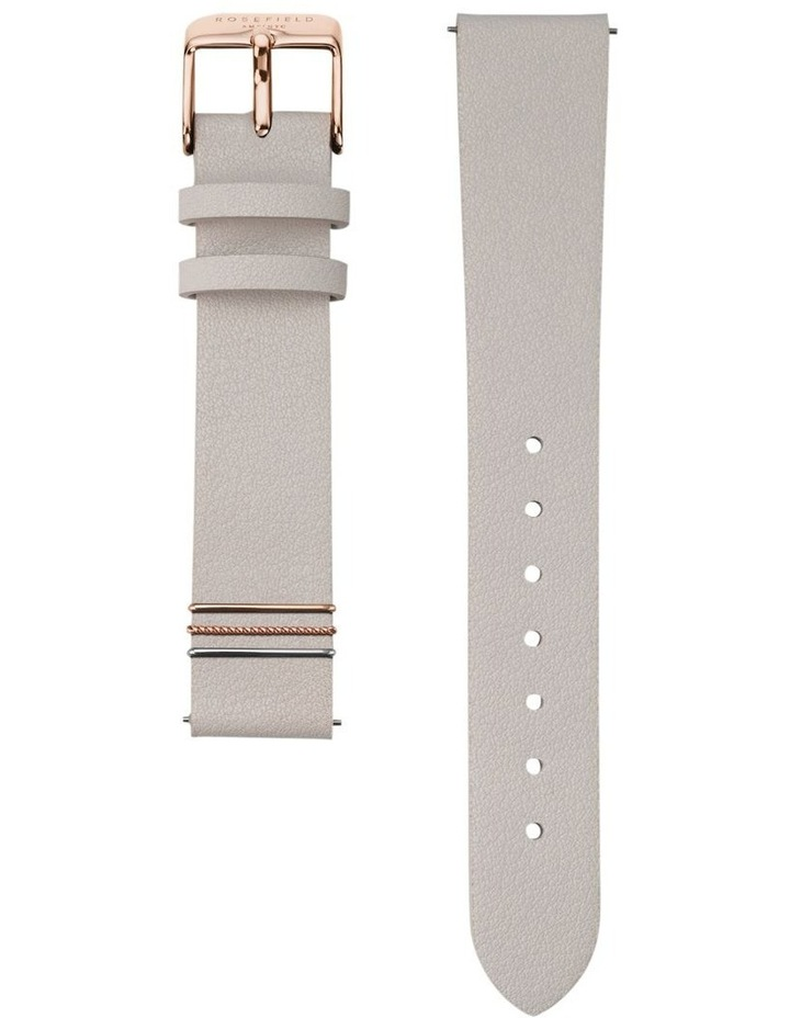 QCGRG-Q028 The Boxy White Dial Light Grey Sued Watch image 3