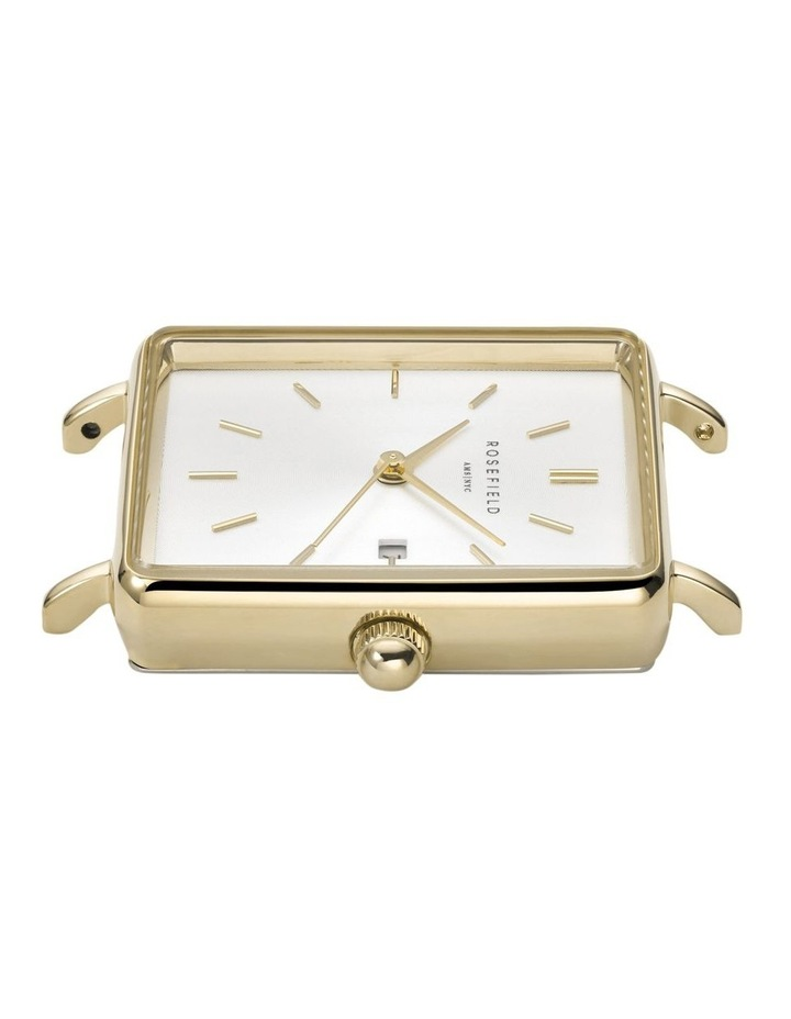 QSCG-Q029 The Boxy White Dial Tan Sued Watch image 2