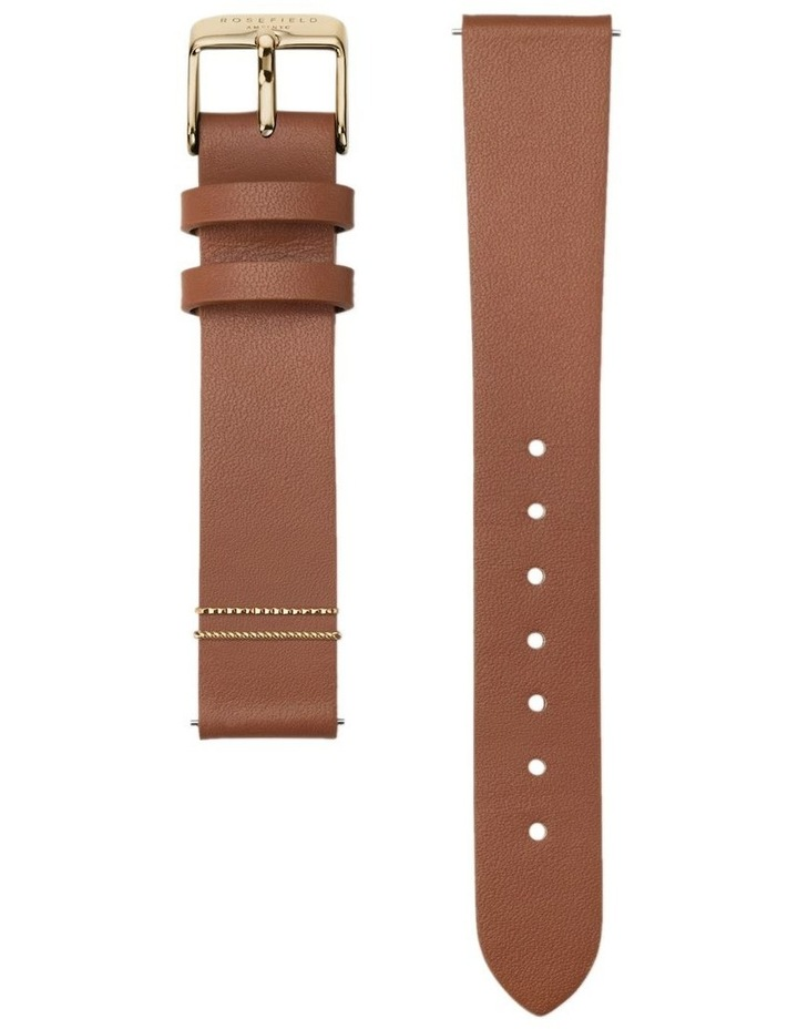 QSCG-Q029 The Boxy White Dial Tan Sued Watch image 3