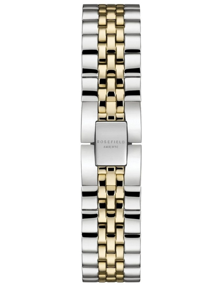 26SGD-269 Small Edit White Dial Gold Dual Tone Bracelet Watch image 2