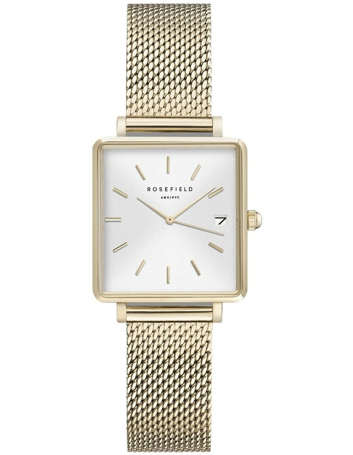 QMWMG-Q039 The Mini Boxy Gold Tone Mesh Watch image 1