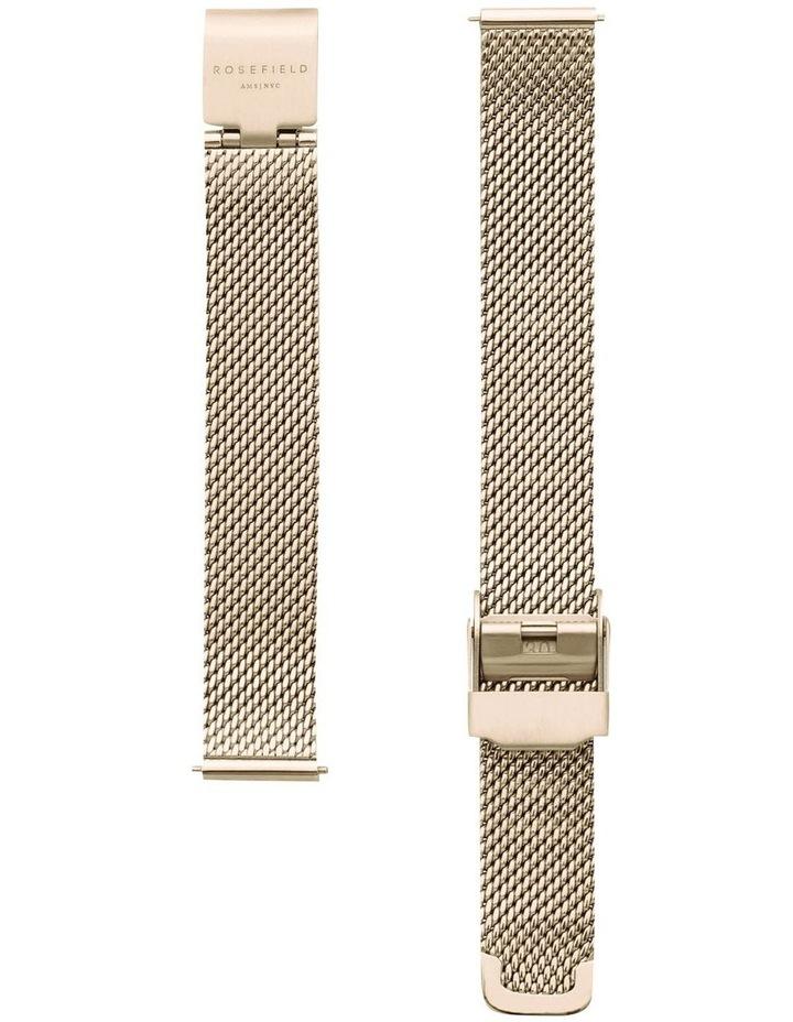 QMWMG-Q039 The Mini Boxy Gold Tone Mesh Watch image 2