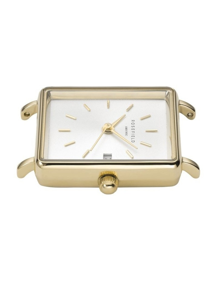 QMWMG-Q039 The Mini Boxy Gold Tone Mesh Watch image 4