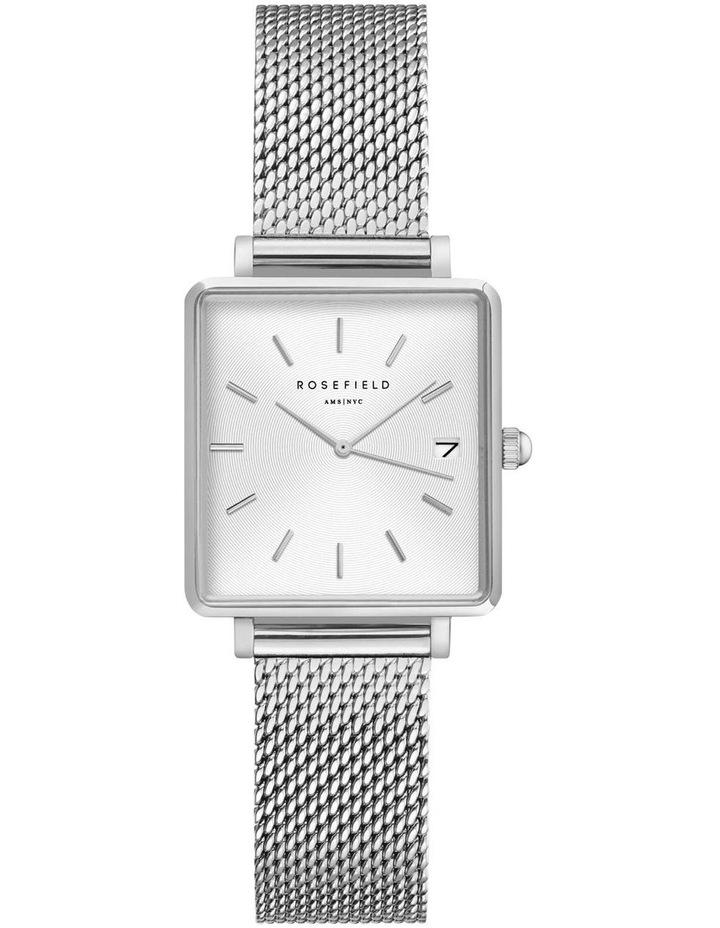QMWMS-Q038 The Mini Boxy Silver Tone Mesh Watch image 1