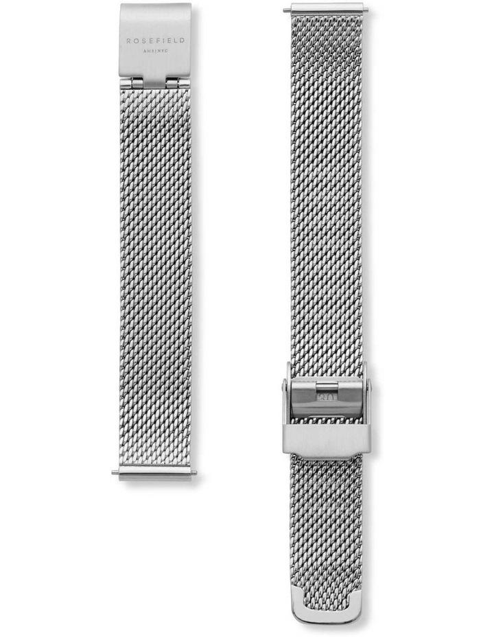 QMWMS-Q038 The Mini Boxy Silver Tone Mesh Watch image 3