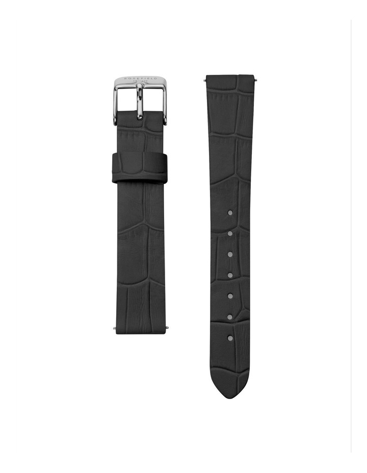 NCBS-N94 Gabby Silver Black Leather Strap image 2
