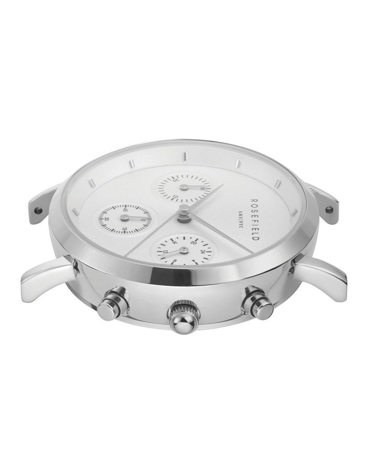 NCBS-N94 Gabby Silver Black Leather Strap image 3