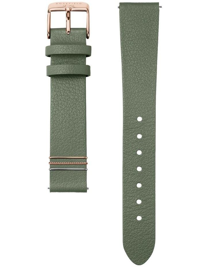 WFGG-W85 West Village Gold Green Leather Strap image 2
