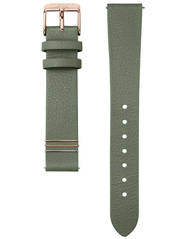 WFGG-W85 West Village Gold Green Leather Strap image 3