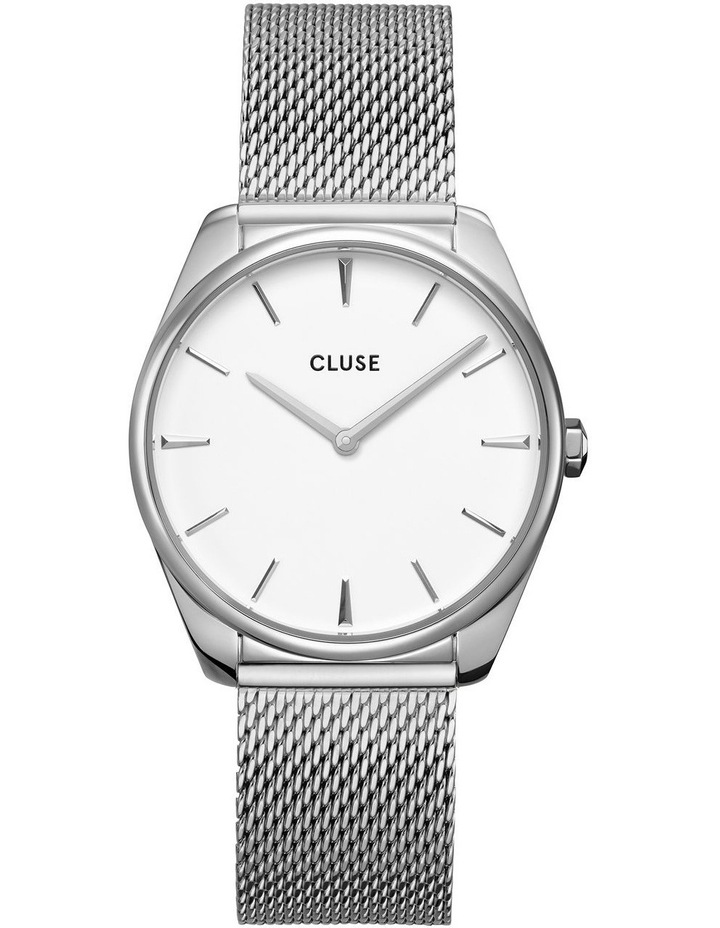 CLUSE Feroce CW0101212001 Silver Mesh/White Watch image 1