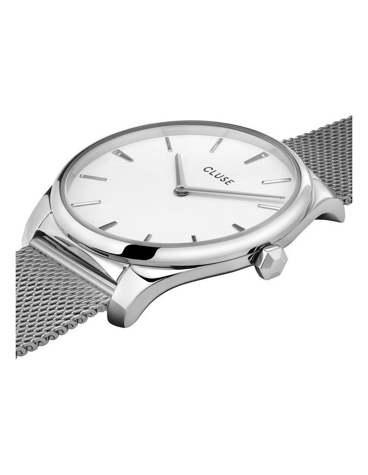 CLUSE Feroce CW0101212001 Silver Mesh/White Watch image 2
