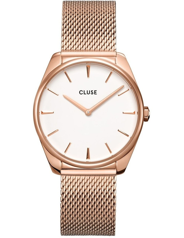 CLUSE Feroce CW0101212002 Rose Gold Mesh/White Watch image 1