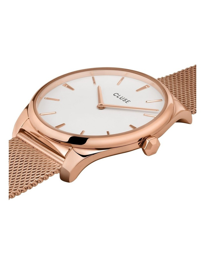 CLUSE Feroce CW0101212002 Rose Gold Mesh/White Watch image 2