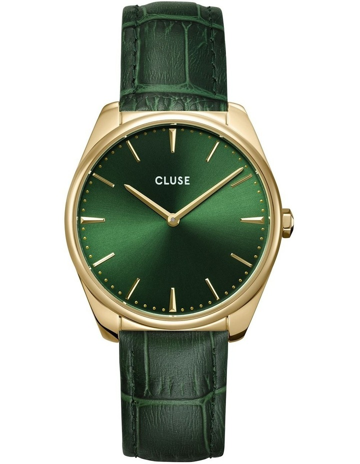 Feroce CW0101212006 Gold/Forest Green Croc Watch image 1