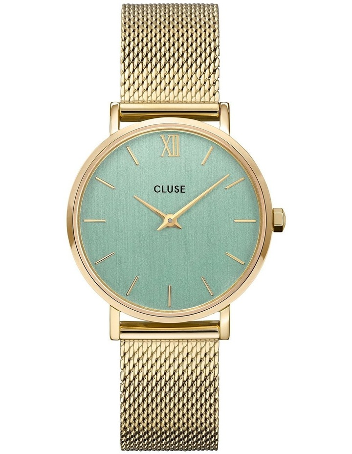 CW0101203030 Minuit Mesh Stone Green/Gold Watch image 1