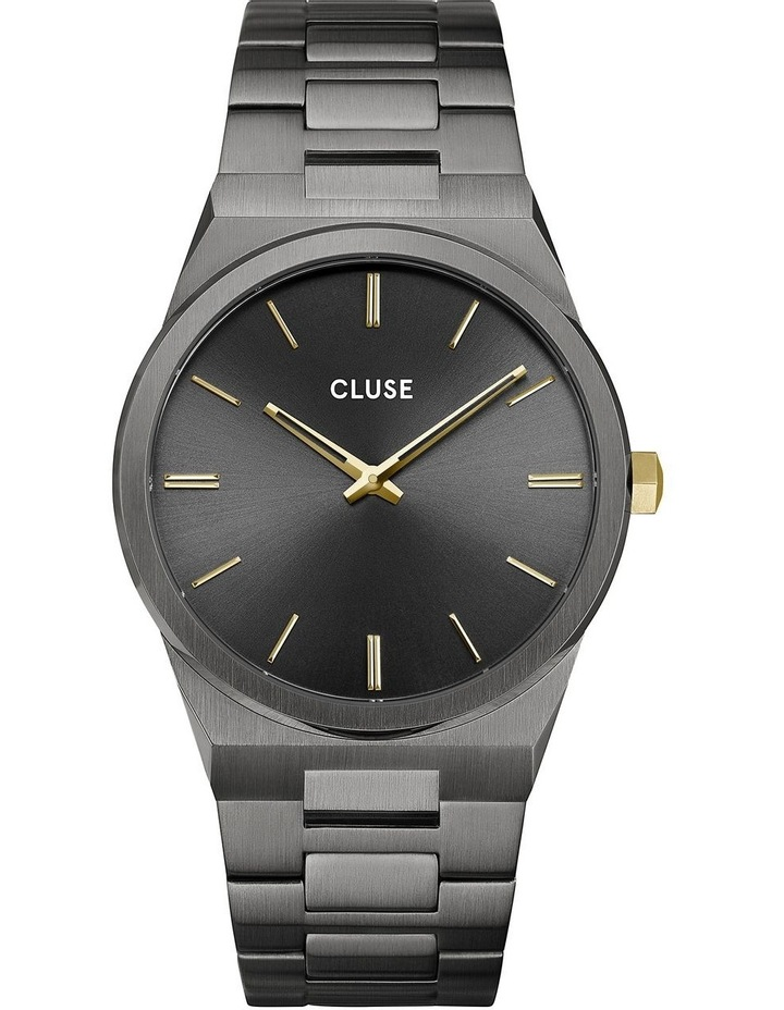 Vigoureux CW0101503006 40 H-Link Dark Grey/Gold Watch image 1