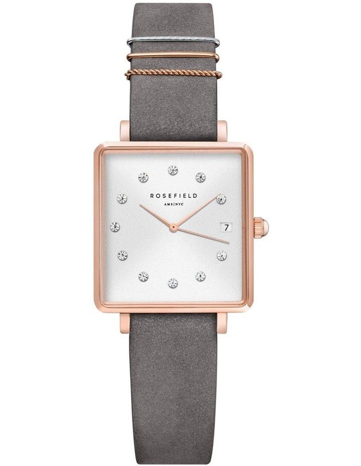 Rosefield QWGR-Q037 Mini Boxy Grey Watch image 1