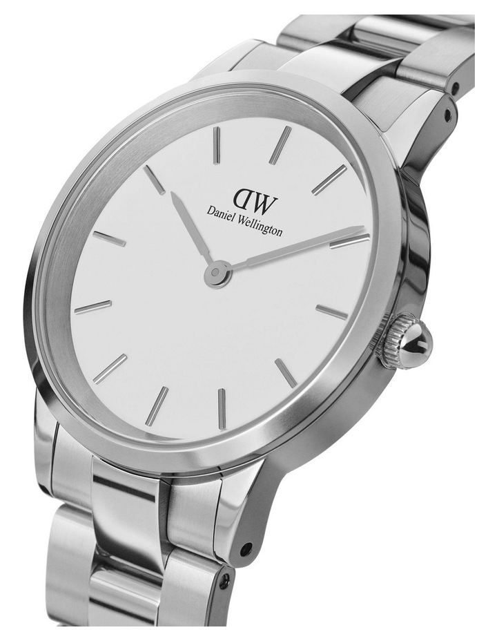 Iconic Link 28 Silver/White Watch image 2