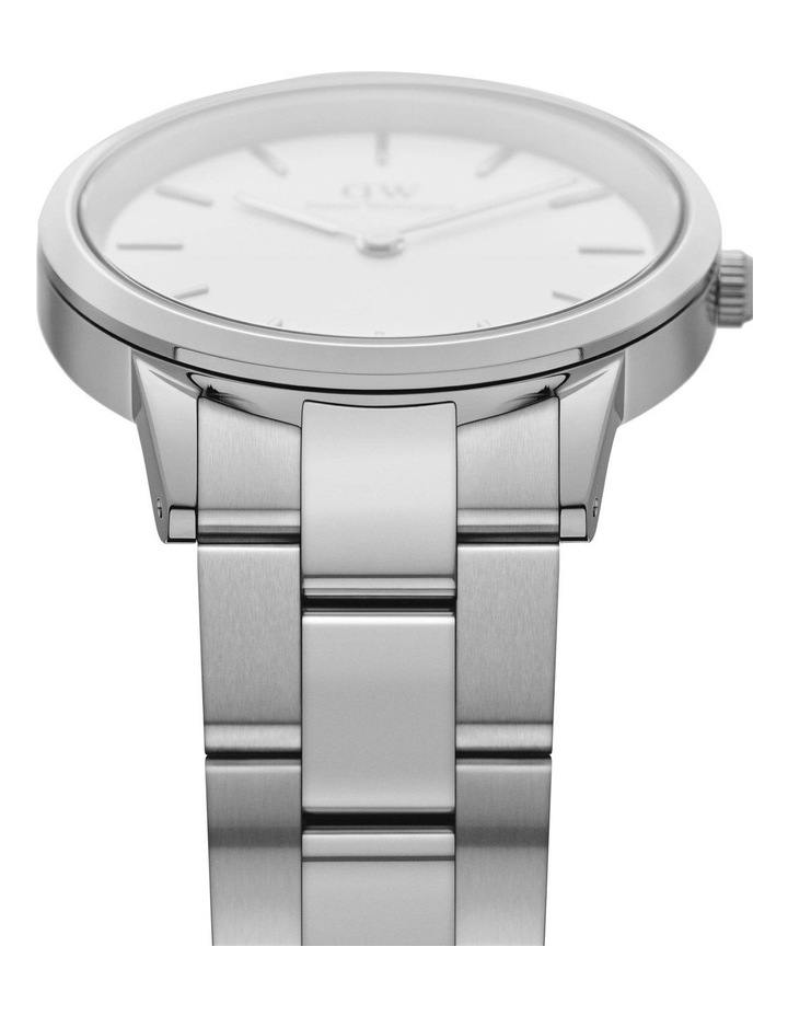 Iconic Link 28 Silver/White Watch image 3