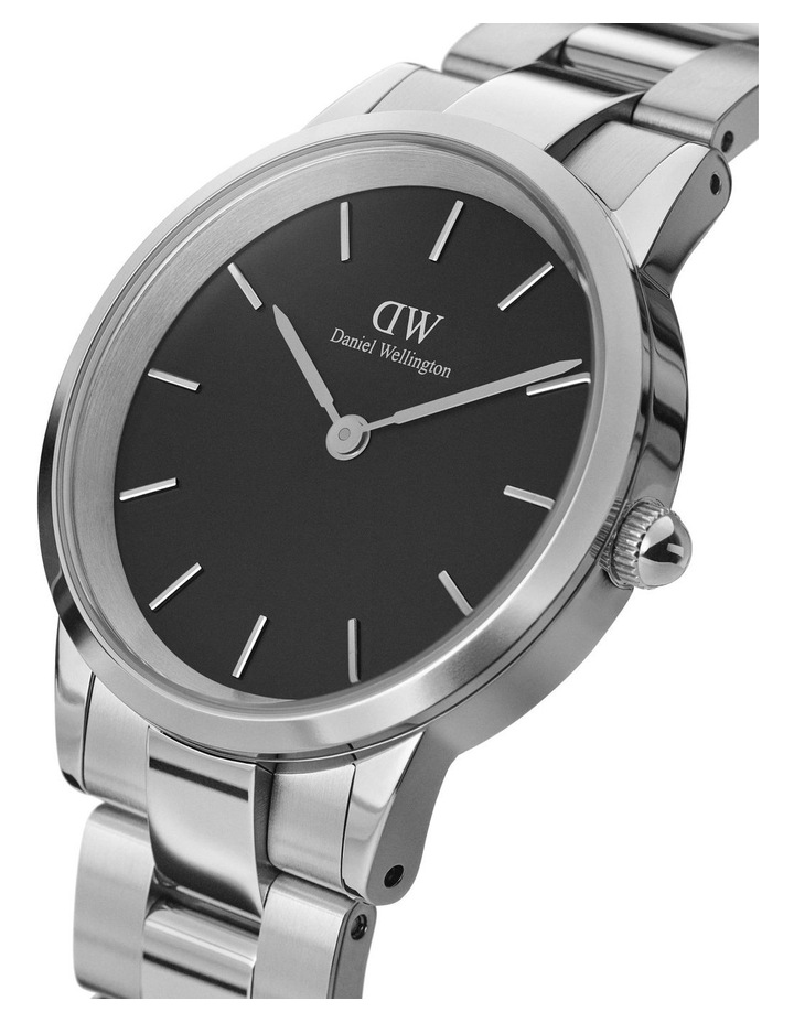 Iconic Link 28 Silver/Black Watch image 2