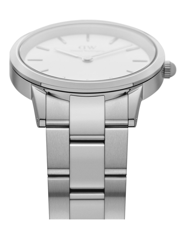 Iconic Link 40 Silver/White Watch image 3