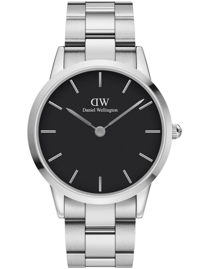 Iconic Link 40 Silver/Black Watch image 1