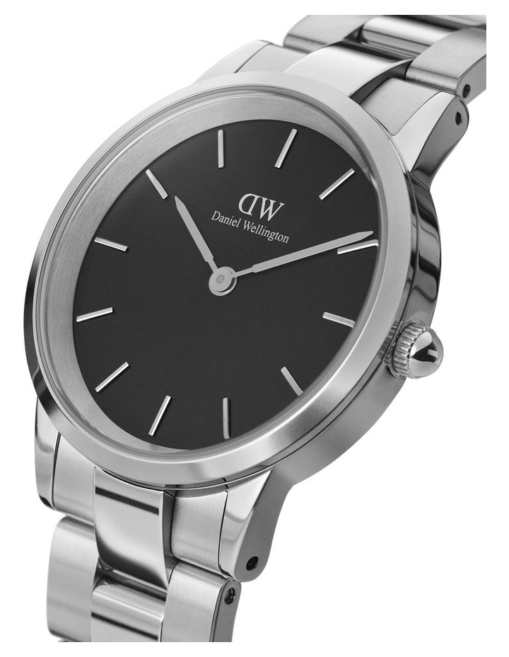Iconic Link 40 Silver/Black Watch image 2