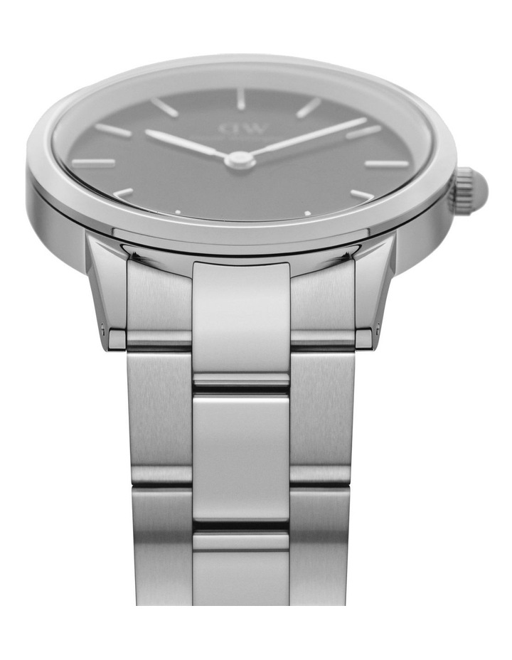 Iconic Link 40 Silver/Black Watch image 3