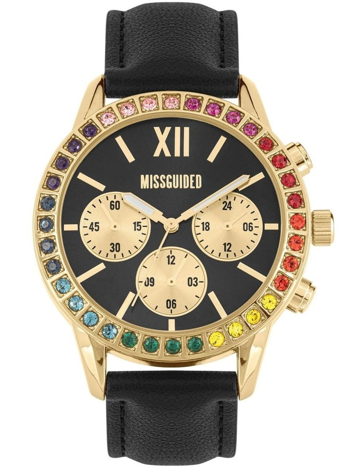 MG015BG Black Multi Stone Watch image 1