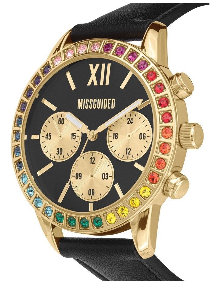MG015BG Black Multi Stone Watch image 2