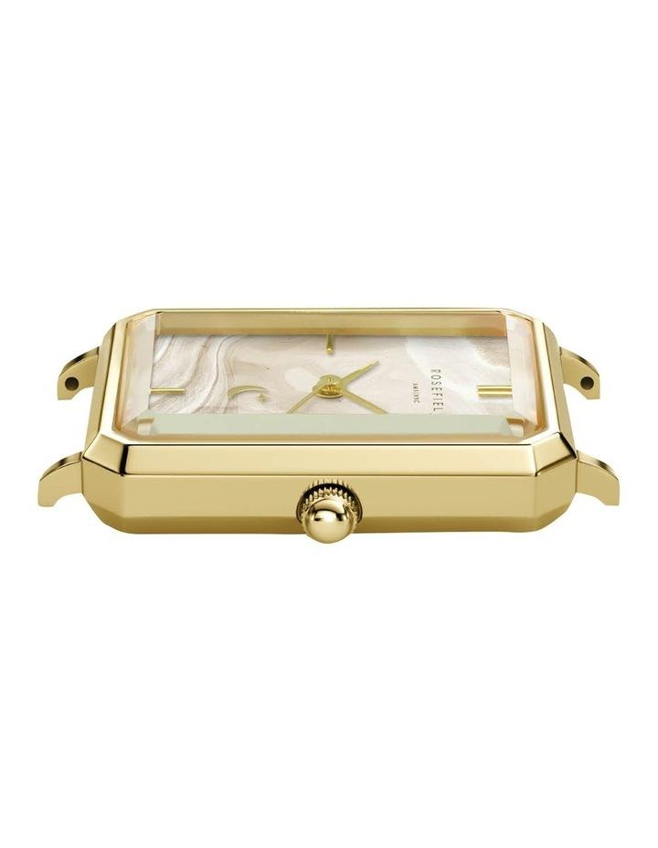 The Elles Gold Blue Croc Leather Watch image 2