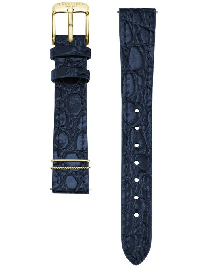 The Elles Gold Blue Croc Leather Watch image 3