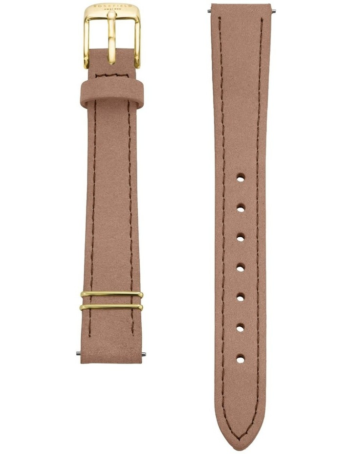 The Mini Boxy Gold Nude Leather Watch image 3