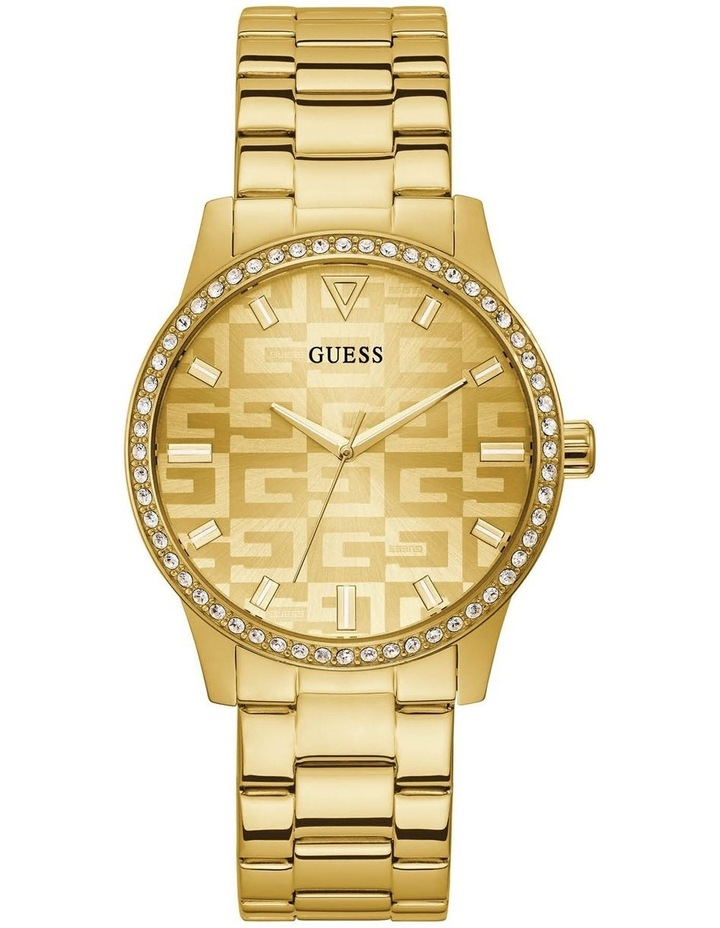 G Check Gold Stainless Steel Analogue Watch image 1