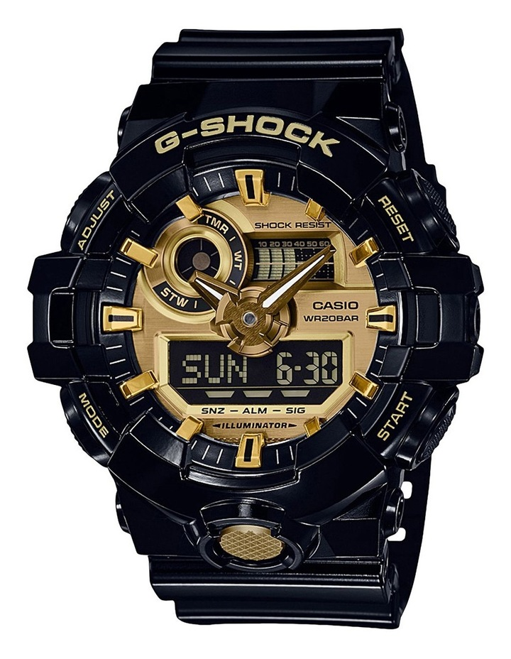 GA710GB-1A Black and Gold Watch image 1