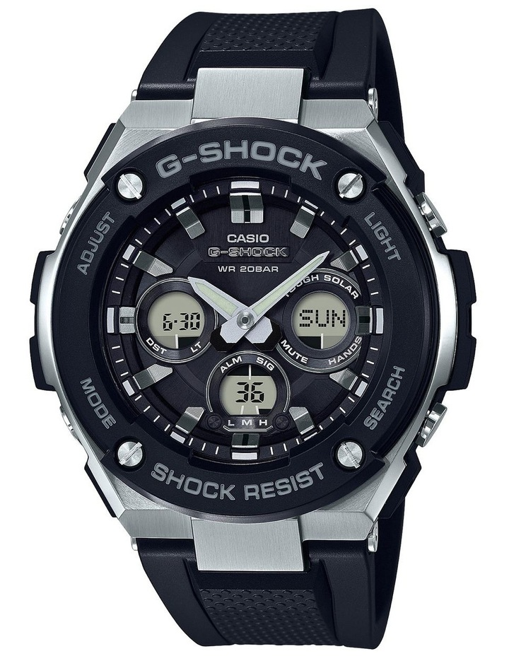 G Steel Duo Mid Size GSTS300-1A Black Stainless Steel Watch image 1