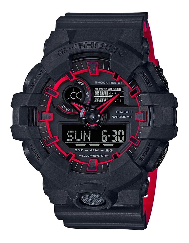 G Shock Duo Side Edge GA700SE-1A4 Black & Red Watch image 1
