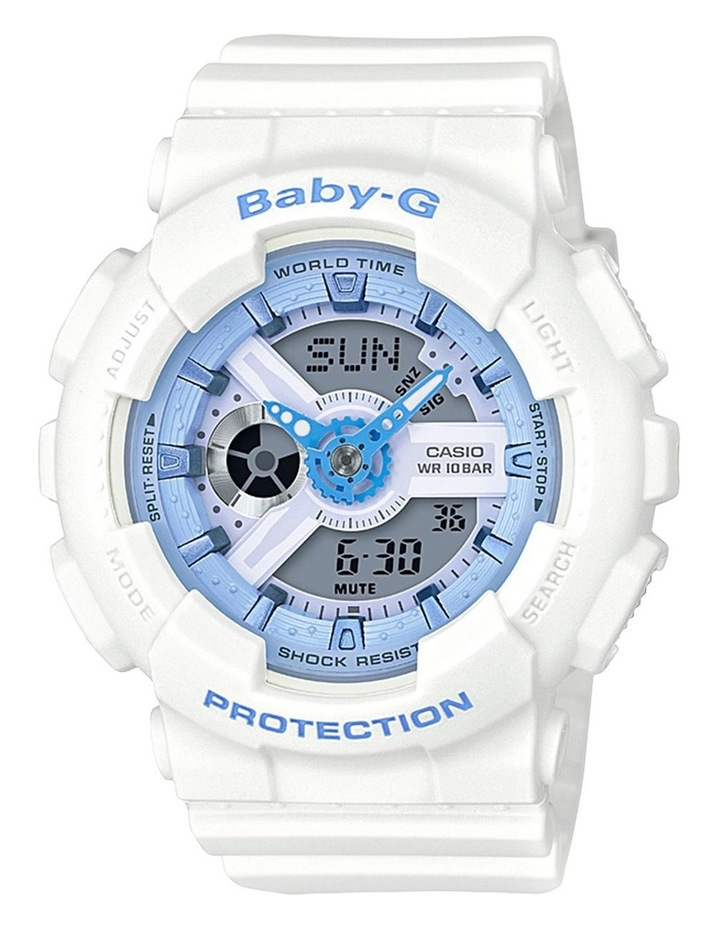 Baby G Duo Beach Colour BA110BE-7A White Watch image 1