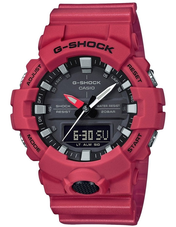 Duo Mid Size GA800-4A Black & Red Watch image 1