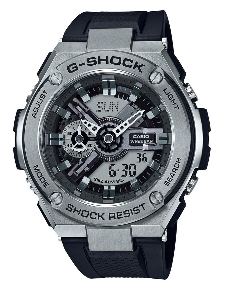 G-Steel Silver Resin Band Watch GST410-1A image 1