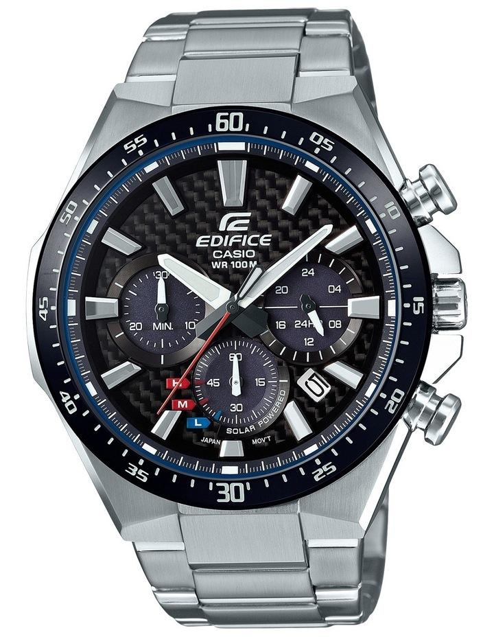 EQS800CDB-1A Solar Power Chronogrpah Silver & Black Watch image 1