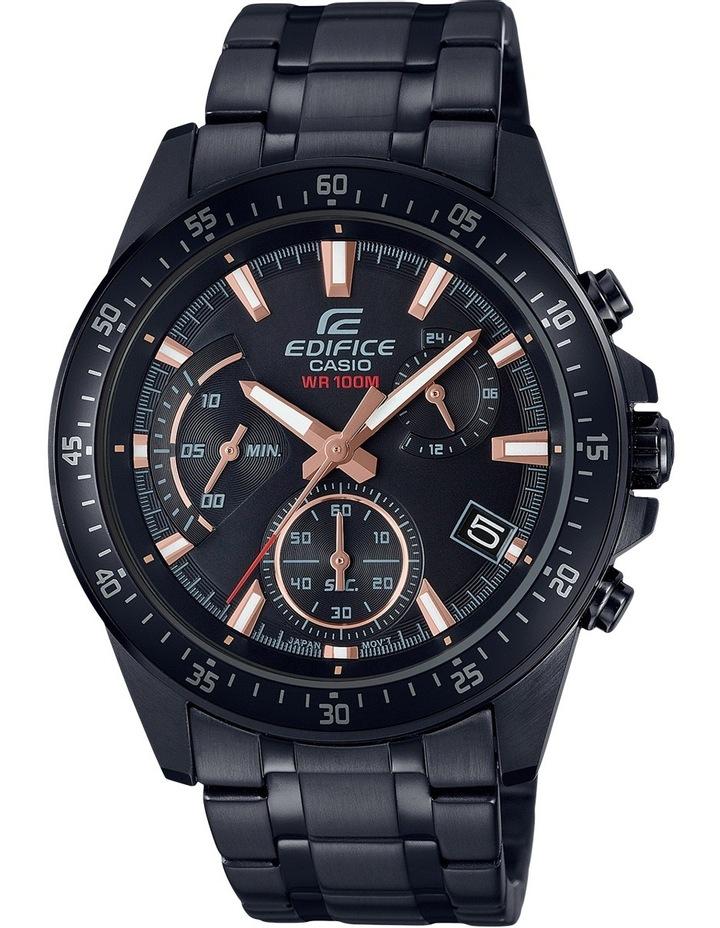 EFV540DC-1B Standard Retrograde Chronograph Black & Rose Gold Watch image 1