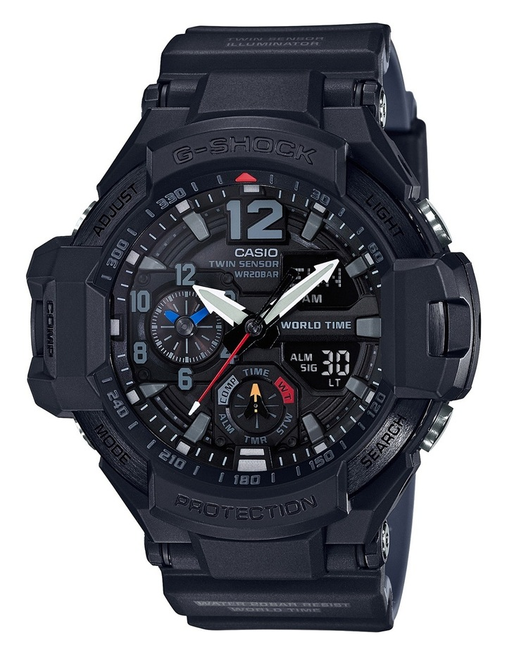 Gravity Master Twin Sensor Black Watch GA1100-1A1 image 1