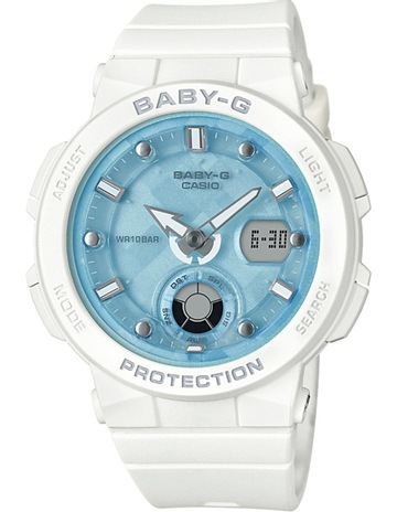 Baby GBeach Traveller Series White Watch BGA250-7A1. Baby G Beach Traveller  Series White Watch BGA250-7A1 8f0441c38