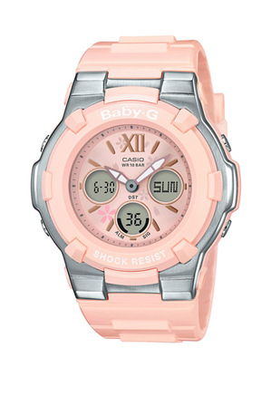 Casio - Summer Bloom Series White and Pink Watch BGA110L-4B