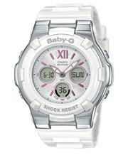 Casio - Summer Bloom Series White and Silver BGA110L-7B